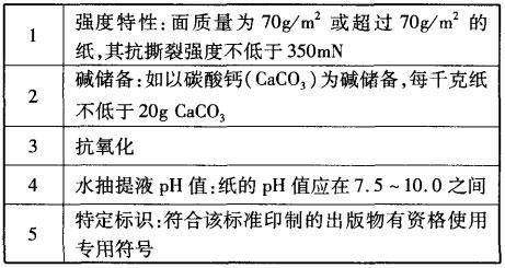 ISO9706标准特性